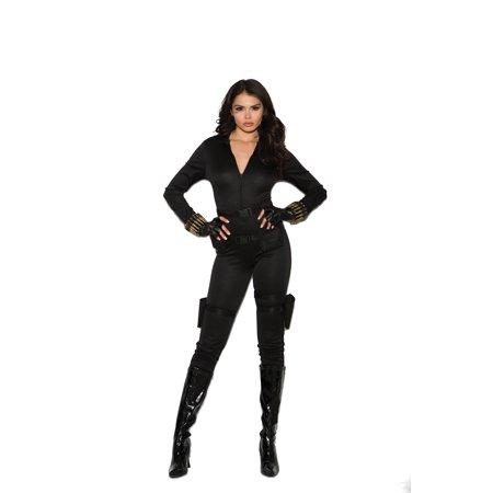 5 pc costume includes jumpsuit, belt, utility belt with holsters, bullet bracelets and fingerless gloves - Color - Black - Size - S](Bullet Bill Costume)