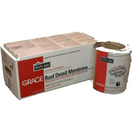 Grace 55280 18 in. x 50 ft. Roof Detail Membrane Rubber Membrane Roof