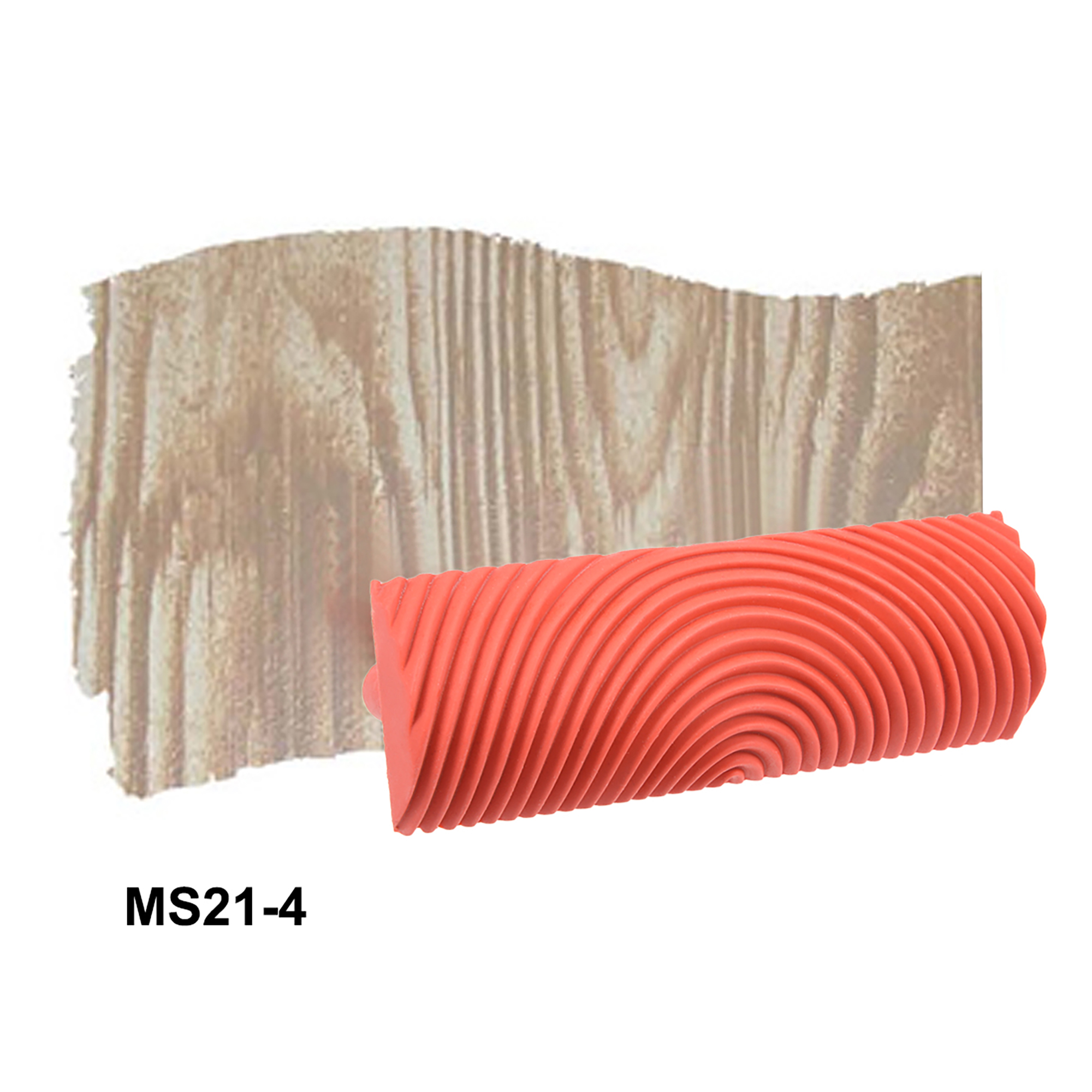 Wood Grain Tool 4 inch Empaistic Rubber Square Graining Pattern Stamp for Wall Decoration DIY Red 2pcs - image 2 of 5