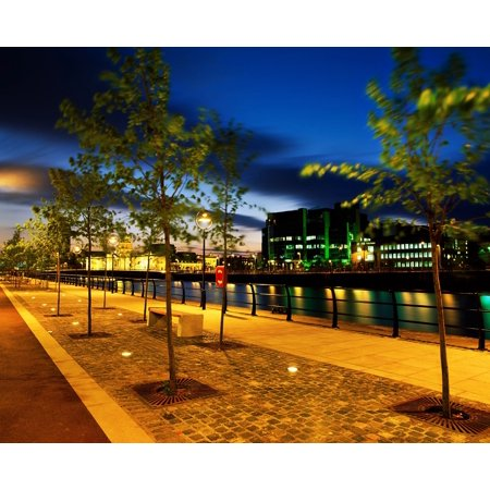 Dublin Co Dublin Ireland Custom House And International Financial Services Centre Next To The River Liffey Posterprint