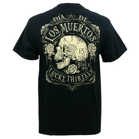 Lucky 13 Mens Dead Skull T Shirt