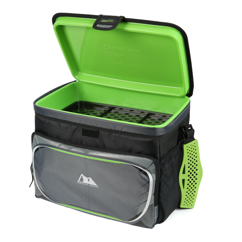 Arctic Zone Zipperless 12 Can Coldlok Cooler with Hardbody LinerOlive Green