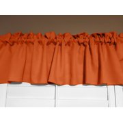 "Solid Poplin Window Valance 58"" Wide Orange"