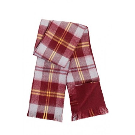 Japanese Kids Reversible Super Soft and Extra Warm Better Than Cashmere Winter Scarf - Solid Maroon / Plaid