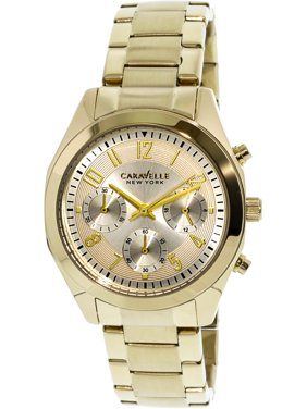 42b6d8311f48 Product Image Caravelle Women s 44L118 Gold Stainless-Steel Japanese  Chronograph Fashion Watch