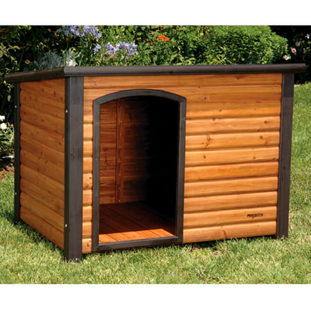 Precision outback log cabin dog house for Dog house layouts