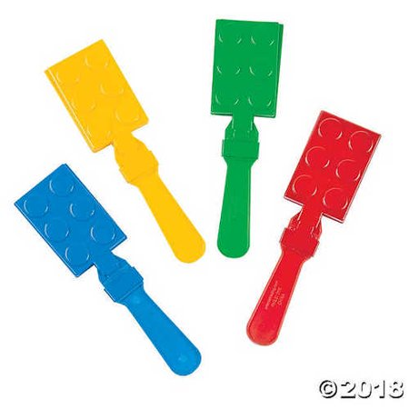 Hand Clappers Noisemakers (Color Brick Party Hand)