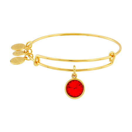Alex and Ani Birthstone Charm Adjustable Wire Bangle