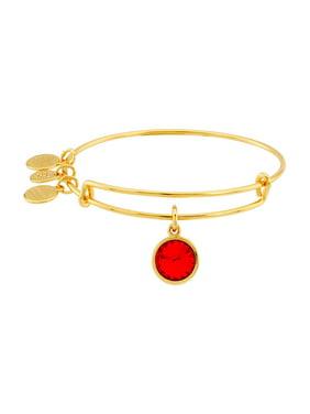 Alex and Ani Garnet Birthstone Charm Adjustable Wire Bangle Bracelet