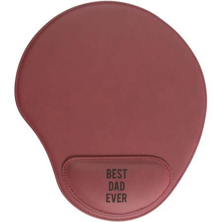 Pavilion - Best Dad Ever Red Cushioned Wrist Support Mouse (Best Wrist Position For Mouse)