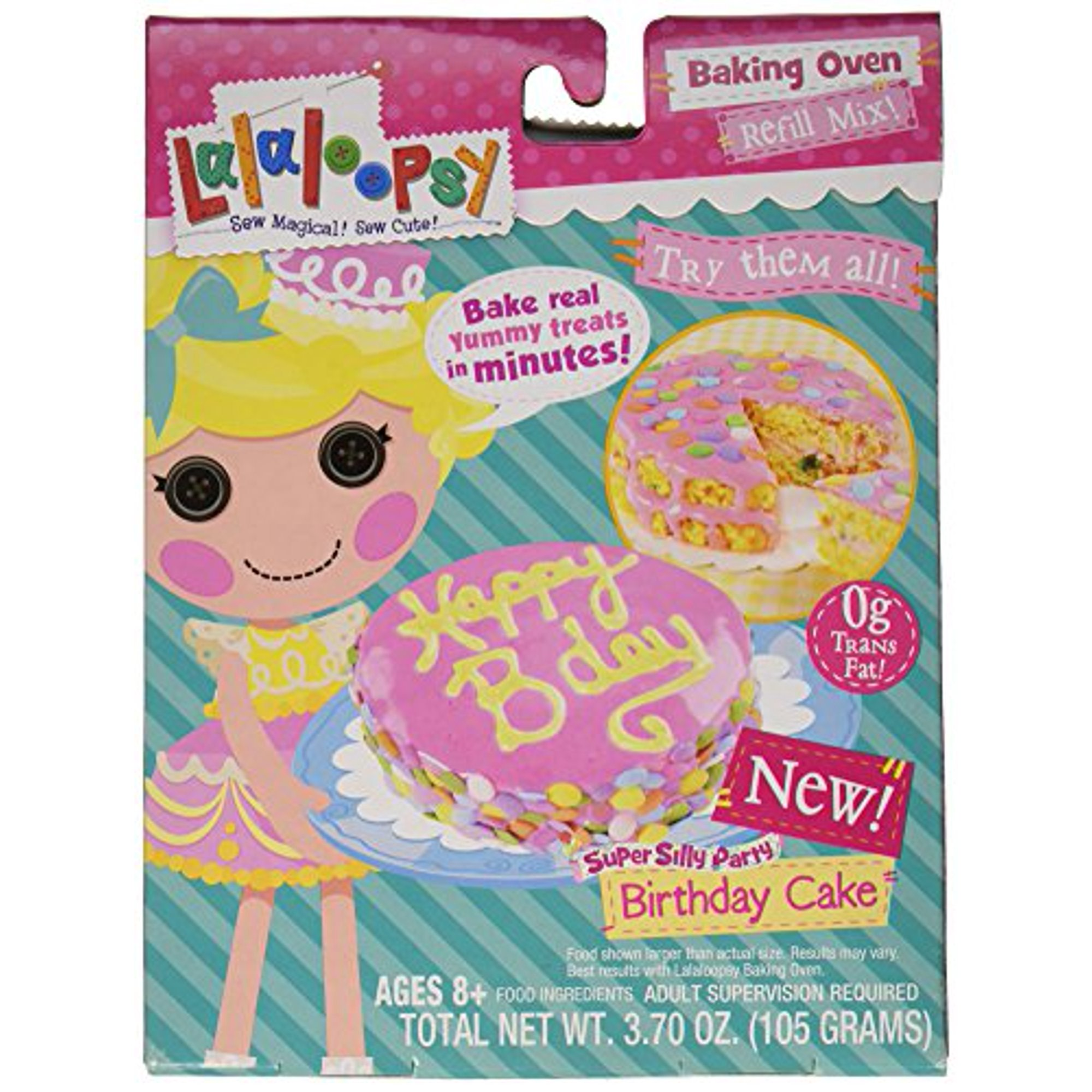 Strange Lalaloopsy Baking Oven Mix Confetti Cake With Hot Pink Frosting Personalised Birthday Cards Rectzonderlifede