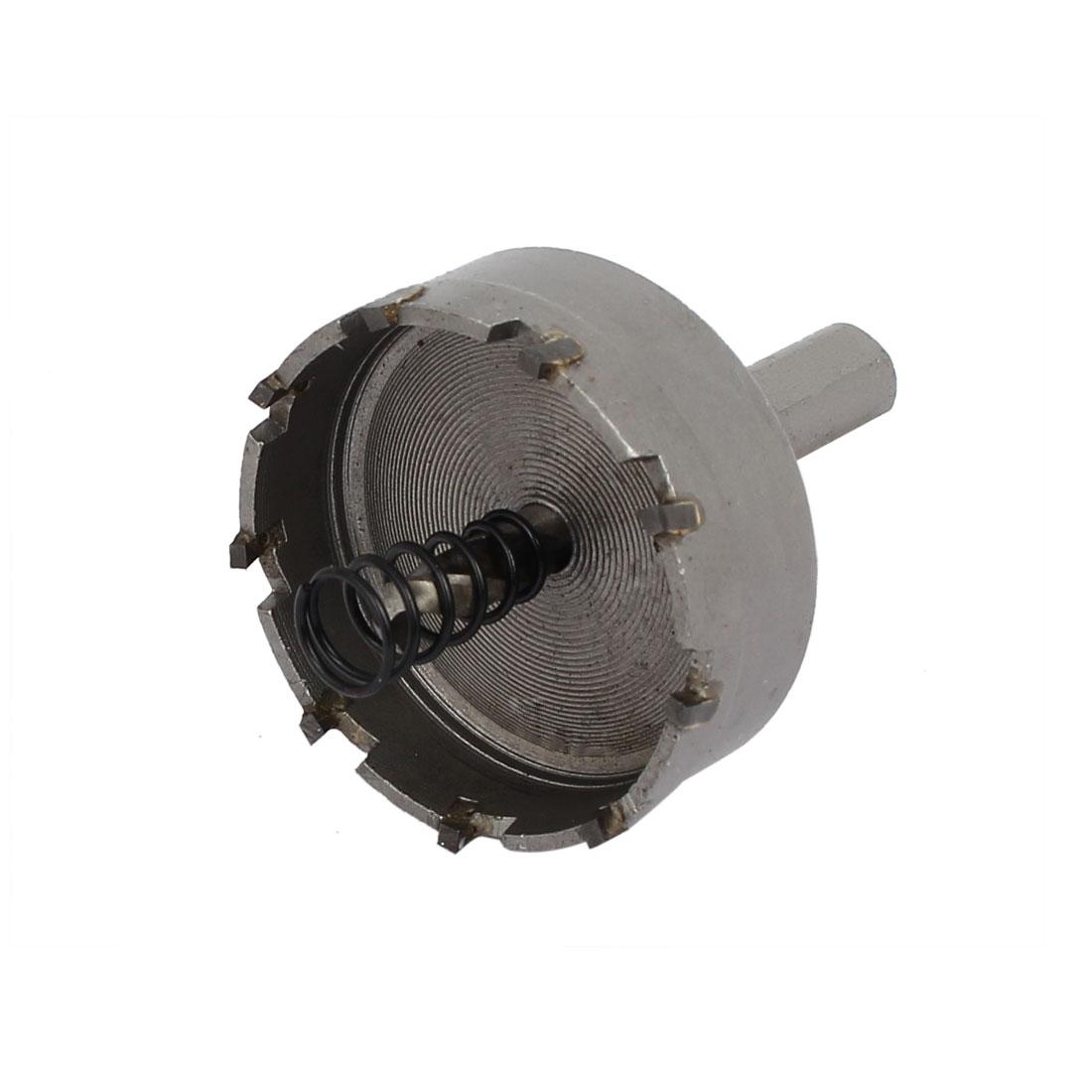 48mm Cutting Dia 6mm Twist Drilling Bit TCT Straight Shank Hole Saw Gray - image 3 de 3