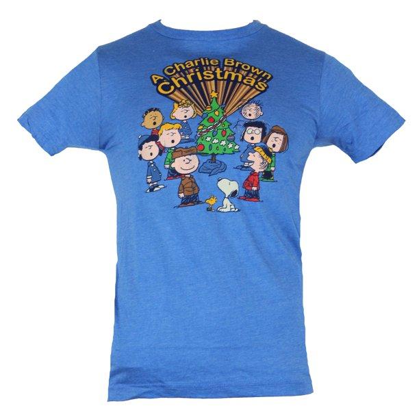 In My Parents Basement Peanuts Mens T Shirt Charlie Brown Christmas Caroling Cast Image Walmart Com Walmart Com