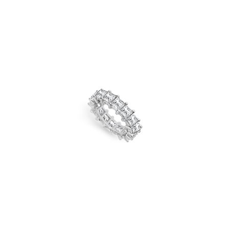 7ct. CZ Wedding Bands Princess Cut AAA CZ Eternity Band Prong Set on Sterling Silver 925 - image 2 of 2
