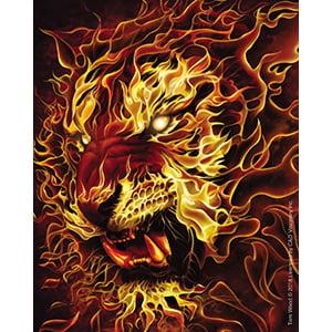 TOM WOOD, Fire Tiger DECAL - Officially Licensed Original Artwork STICKER, 4