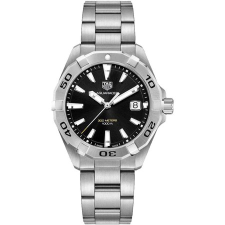 TAG Heuer Men's Aquaracer 41mm Steel Bracelet Quartz Watch WBD1110.BA0928 TAG Heuer Innovation, prestige, performance and precision are the soul of TAG Heuer. But above all, there is passion. Excellence, precision and elegance are the exacting standards and impassioned commitments engendering the fabulous TAG Heuer Swiss luxury watch collection. TAGHeuer Four watch words: Prestige, performance, avant-garde technology and absolute reliability have characterized luxury watch TAG (Techniques d'Avant Garde) Heuer's philosophy since its founding in 1860.