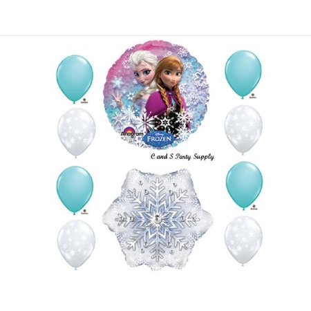 Frozen Iced Blue 10 pc. Disney Movie BIRTHDAY PARTY Balloons Decorations Supplies for $<!---->