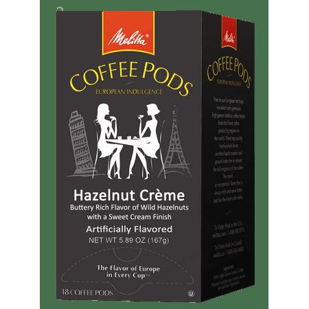 Melitta Hazelnut Crème Coffee Pods for Senseo & Hamilton Beach Brewers, 18 ct