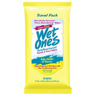 Wet Ones Citrus Scent Antibacterial Hand & Face Wipes, 15 count