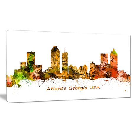 Design Art 'Atlanta Georgia Skyline' Graphic Art on Wrapped Canvas