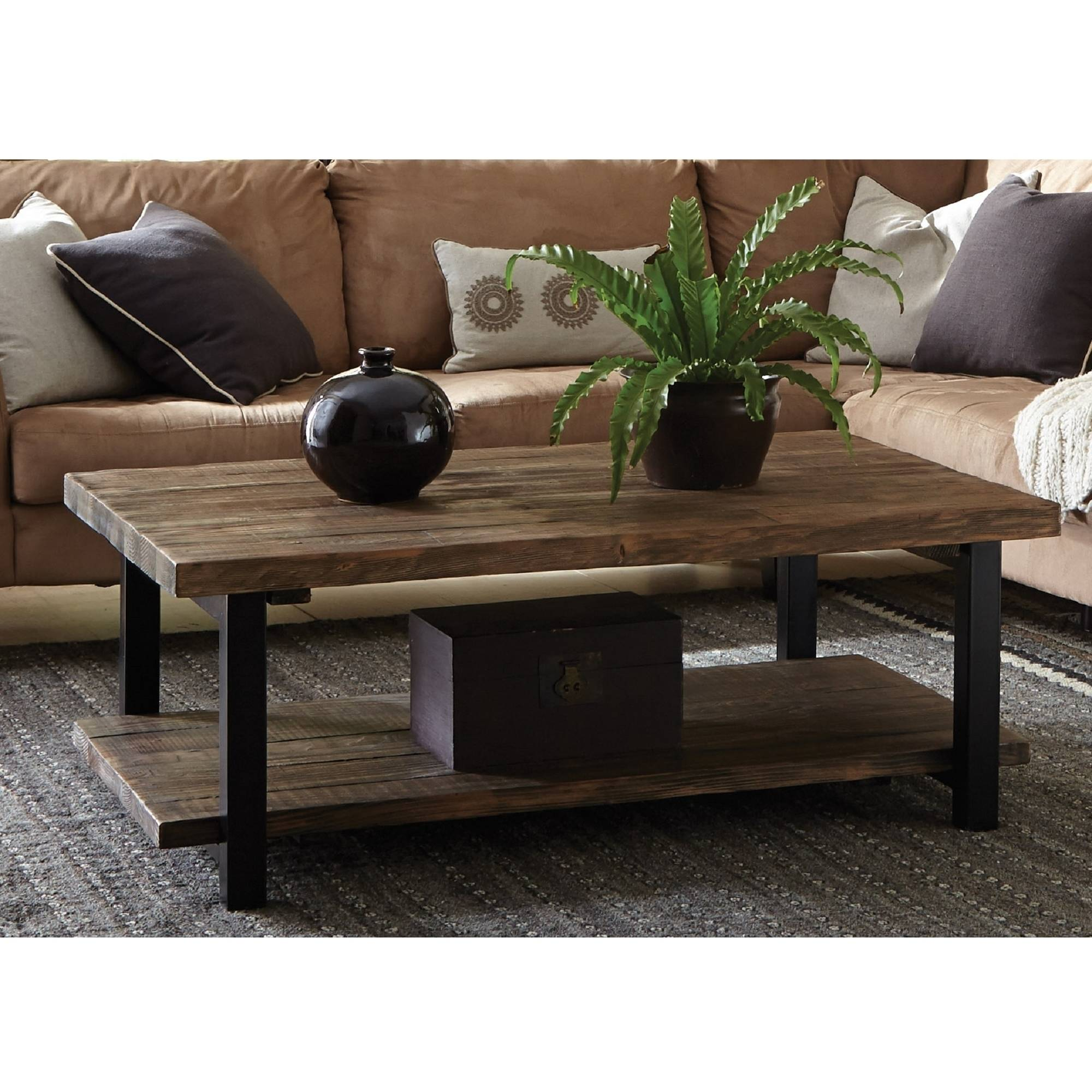 . Pomona Large Coffee Table  Rustic Natural   Walmart com
