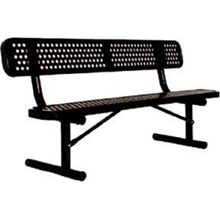 Olympia Sports Pg397d 6 Ft Portable Ultracoat Bench With Back