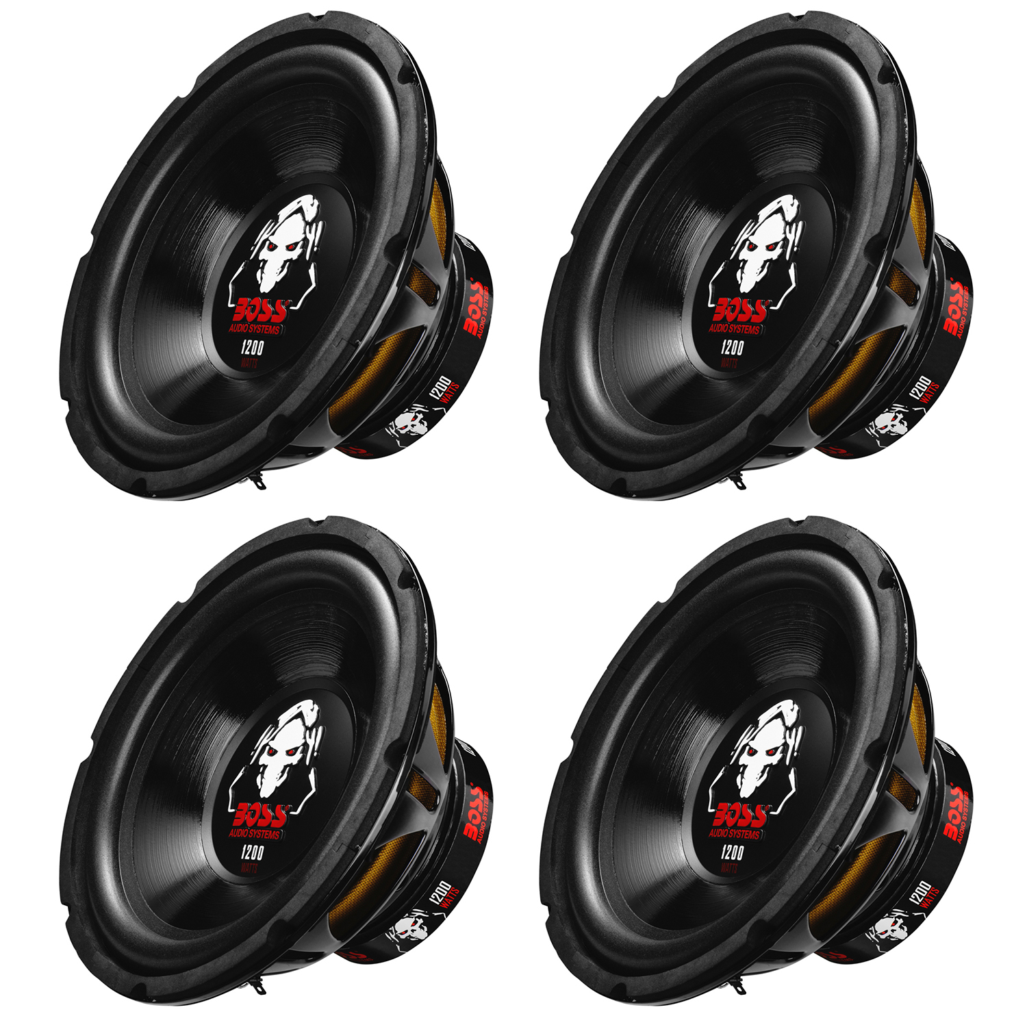 Boss Audio 10-Inch Single Voice Coil 1200 Watt Max Subwoofer (4 Pack) | P10SVS