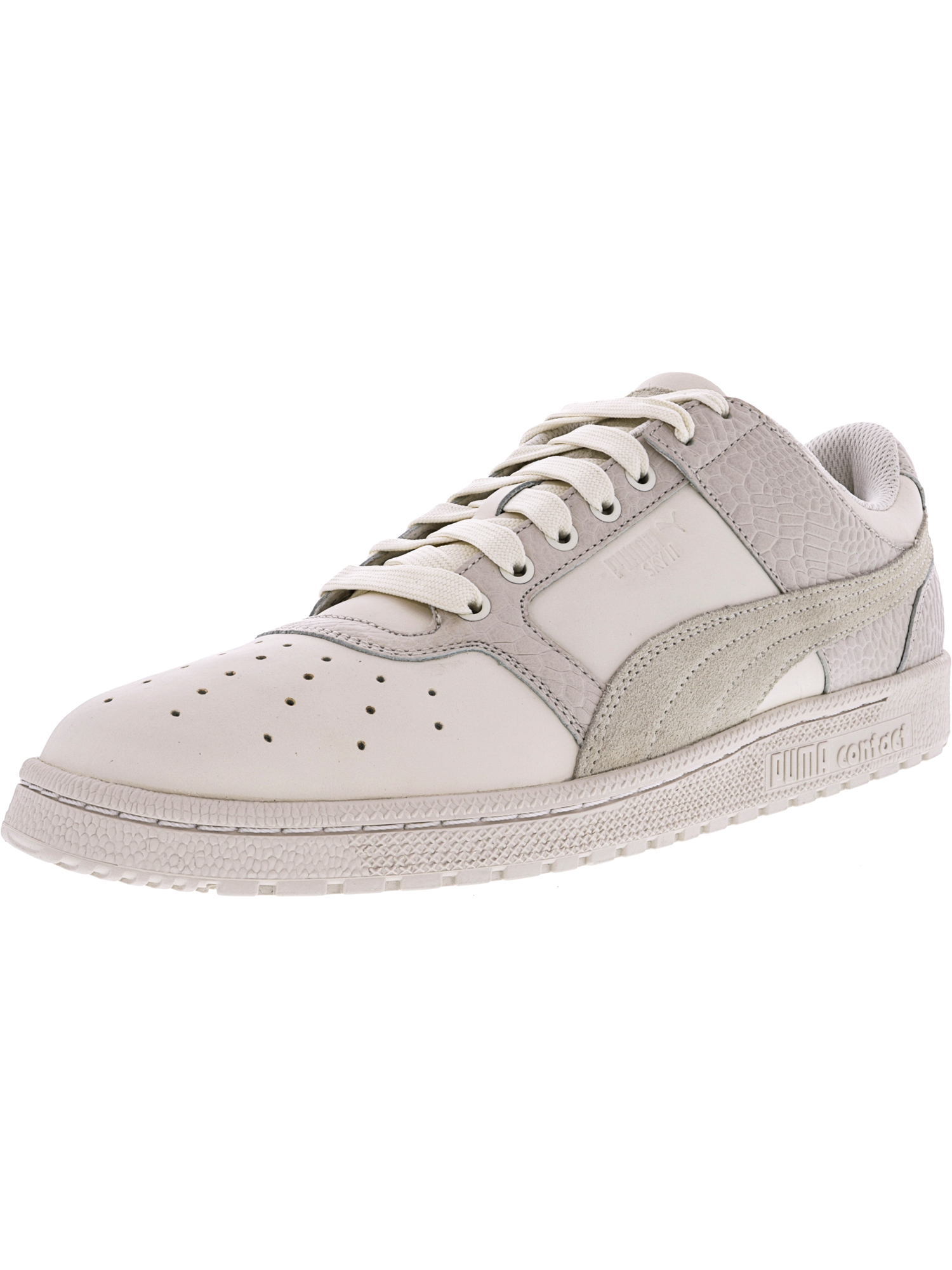 6a91b33f93dd55 Puma Men s Sky Ii Lo Color Blocked Leather Whisper White-Whisper White Low  Top Fashion Sneaker - 11.5M