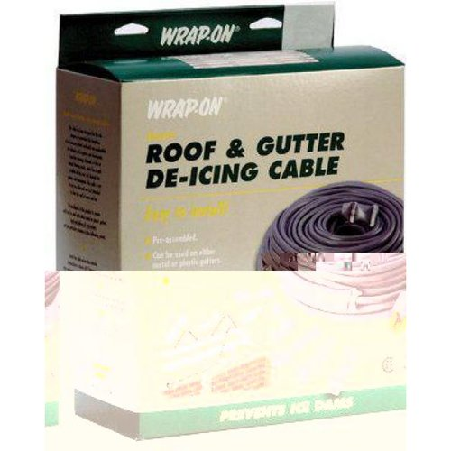 Wrap On Roof & Gutter Cable, Gray, 20-Ft.