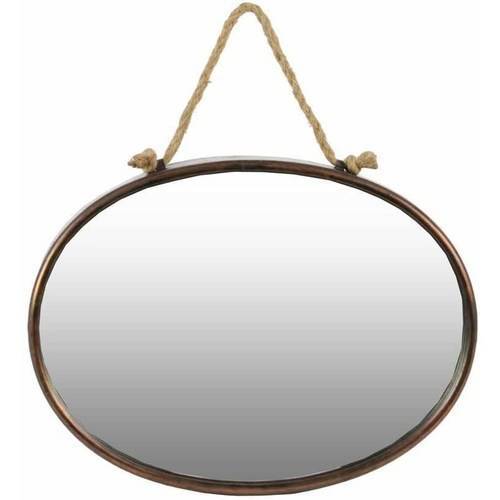 Urban Trends Collection: Metal Wall Mirror, Tarnished Finish, Brown