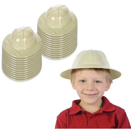 Funny Party Hats- Safari Hat Party Favor - Jungle Party Supplies - Pith Helmets for Kids - Safari Party Supplies 24 Pack (Safari Hats For Kids)