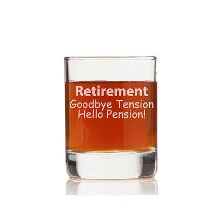 chloe and madison retirement goodbye tension hello pension 10 5 oz rock glass set of 4. Black Bedroom Furniture Sets. Home Design Ideas