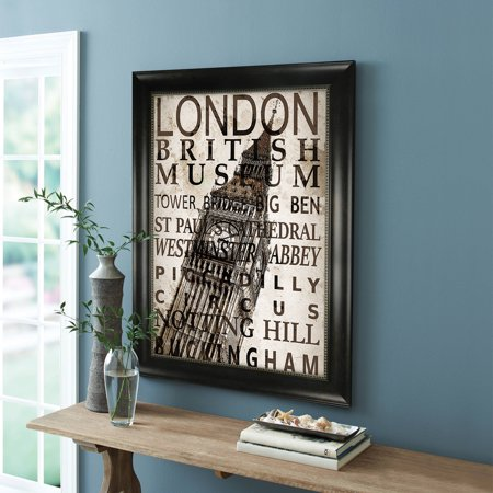 better homes and gardens bronze monteclair poster frame 24 x 36 cm x cm. Black Bedroom Furniture Sets. Home Design Ideas