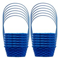 Way to Celebrate Round Small Bamboo Easter Basket, 12 Count