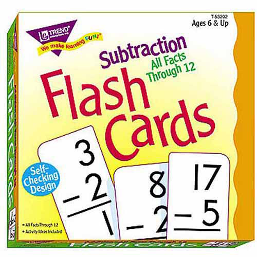 Trend Enterprises Flash Cards Subtraction All Facts Through 12