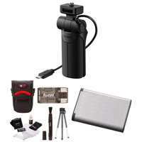 Sony VCT-SGR1 Shooting Grip and Tripod and Battery Bundle