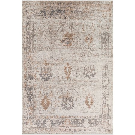Traditional Stratford Collection Area Rug in Wheat Color and Rectangle Shape