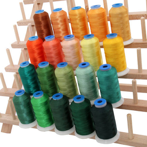 Threadart 20 Cones of Rayon Embroidery Thread Bright Colors
