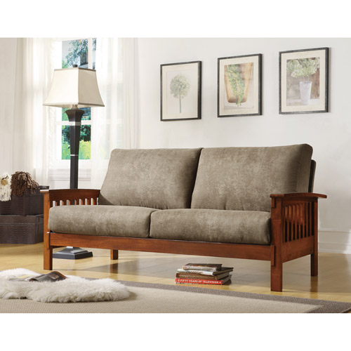 Mission Oak Microfiber Sofa, Olive