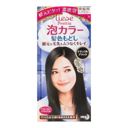 Kao Japan Liese Bubble Foaming Hair Color Kit - Natural Black (Hair Baubles)