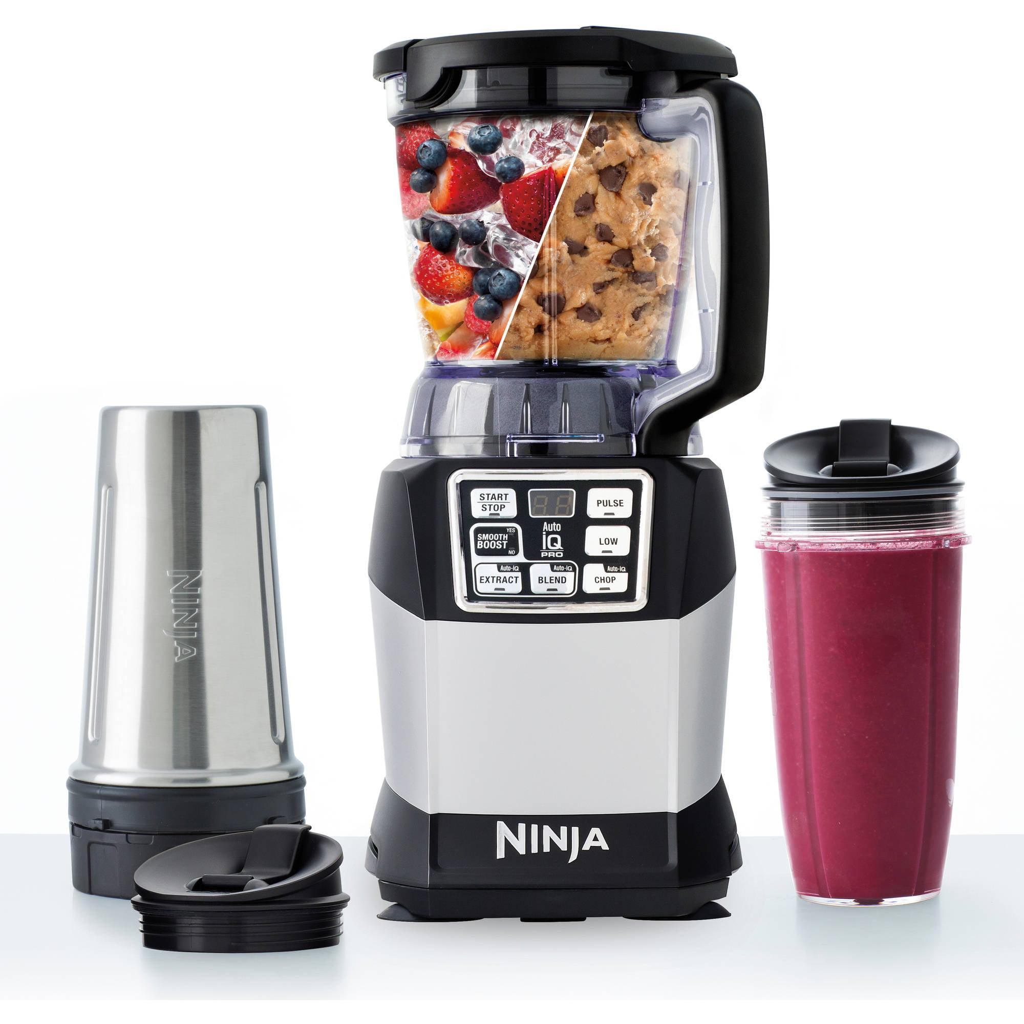 Nutri Ninja Auto-iQ Compact Blender System with Nutri Ninja Cups (BL492W)