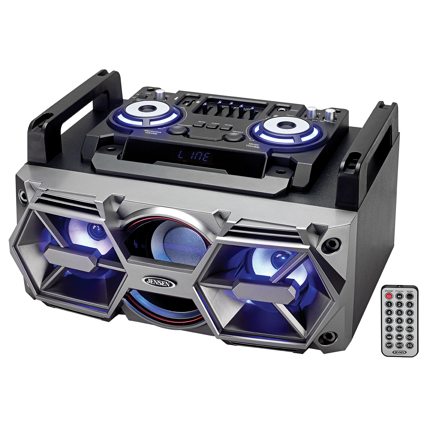 Jensen All-In-One Bluetooth Wireless Radio Mega Bass Stereo Boombox by Jensen