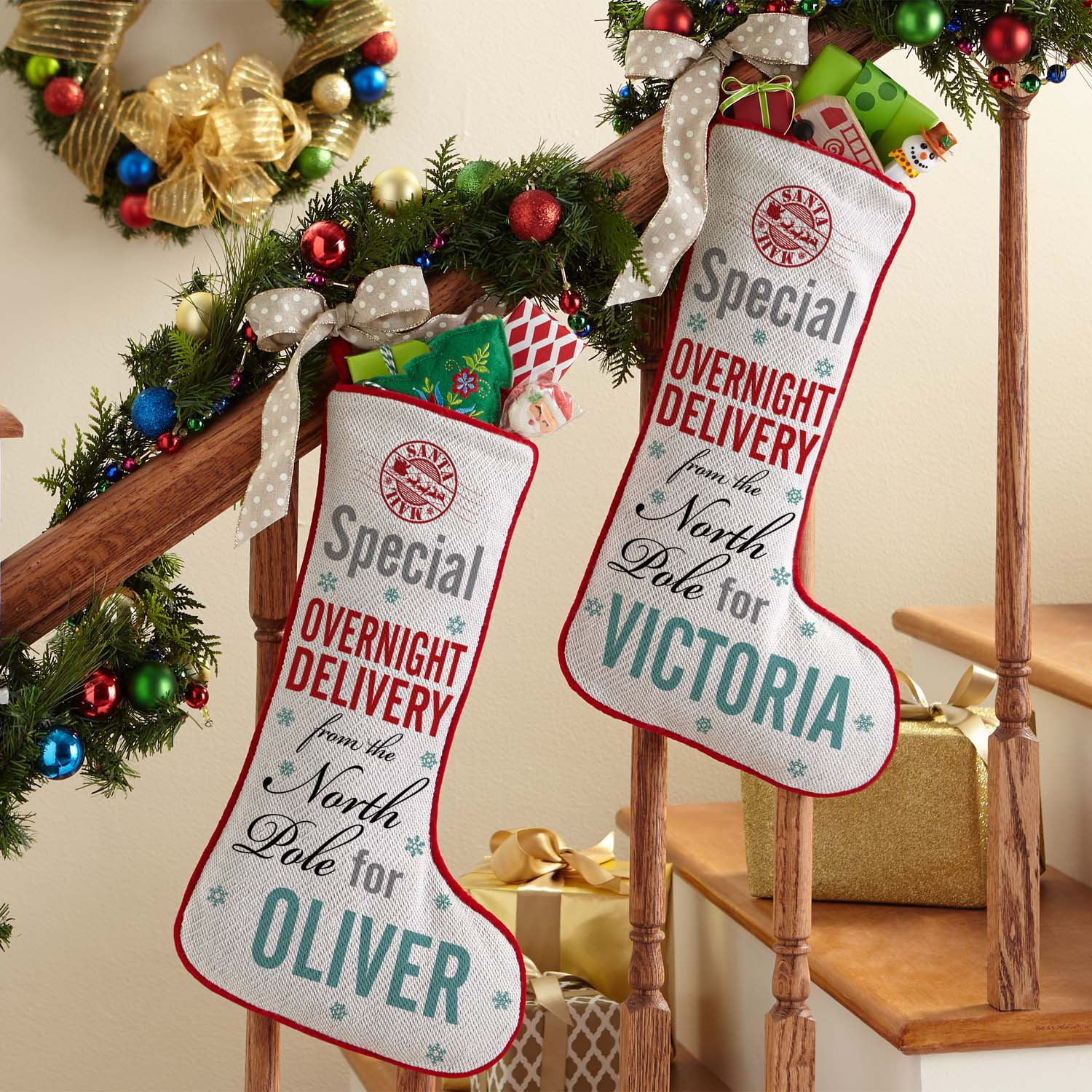 Personalized Special Delivery Christmas Stocking