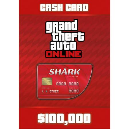 Grand Theft Auto Online - Red Shark Cash Card, Rockstar Games, PC, [Digital Download], 818858024488 (Shark Games Online)