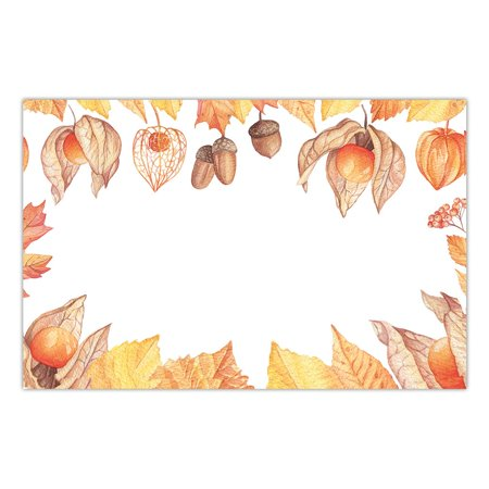 Easy Halloween Lunches (Autumn Season Paper Placemats 25 Pack Classic Fall Design Rustic Leaves Place Mats Kids Adult Halloween Costume Parties Luncheon Thanksgiving Dinner Disposable Easy Cleanup 17' x 11' DB Party)