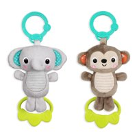 Bright Starts Tug Tunes Take-Along Toy, Ages Newborn +, Characters May Vary