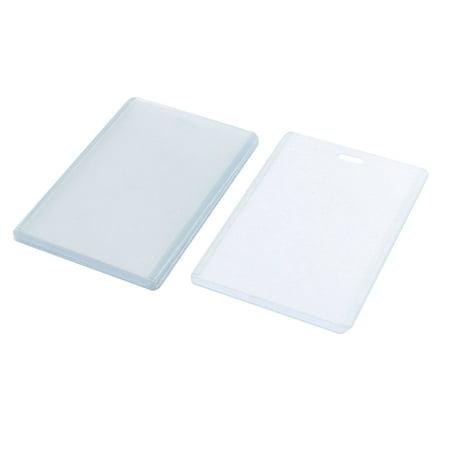 Unique Bargains 6pcs Vertical ID Card Waterproof Clear Plastic Badge Holder (Plastic Badge Holder)