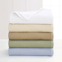 Martex Diagonal Weave Lightweight Layer Cotton Blanket (Multiple Sizes & Colors)