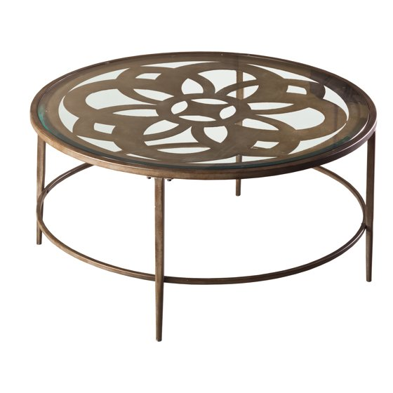 Hillsdale Furniture Marsala Metal And Glass Coffee Table