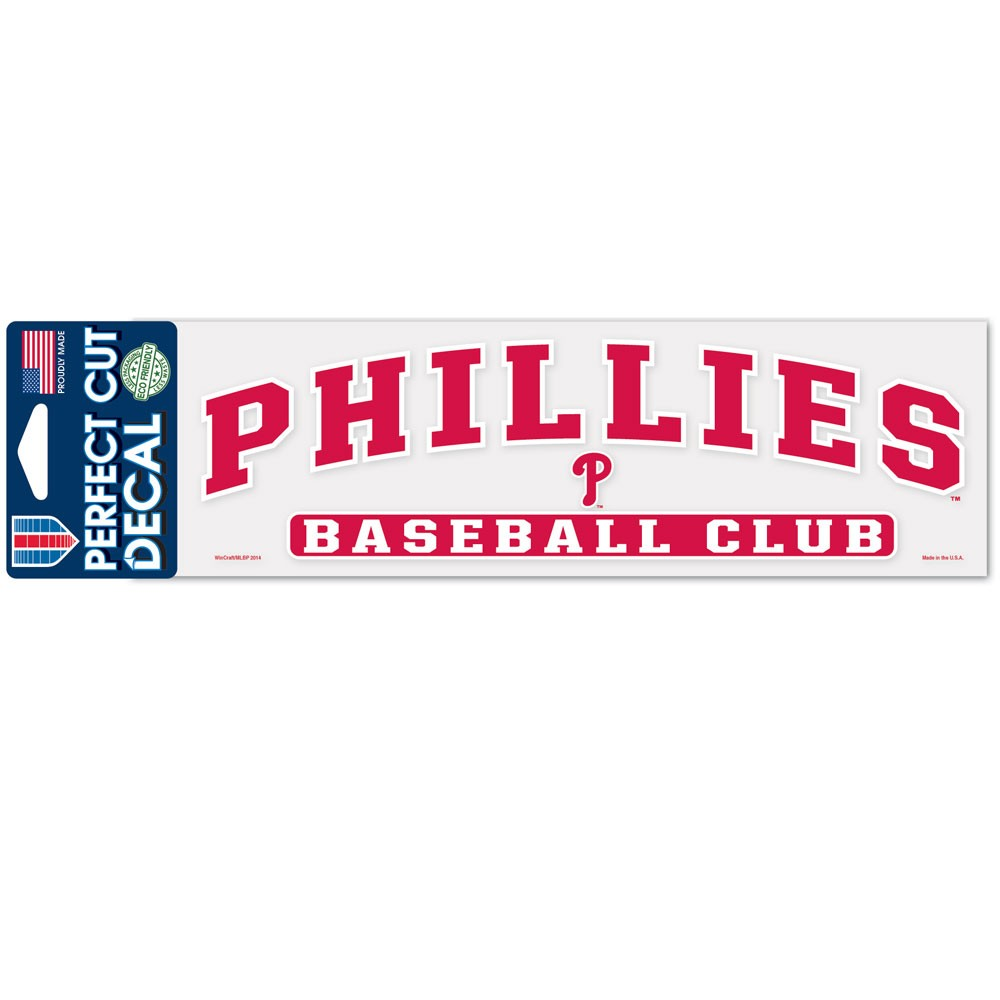 Philadelphia Phillies Official MLB 3 inch x 10 inch  Die Cut Car Decal by WinCraft